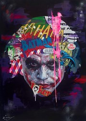 The Joker V by Zinsky - Original Painting on Stretched Canvas sized 36x52 inches. Available from Whitewall Galleries